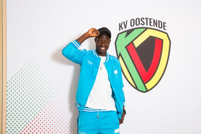 Makhtar Gueye, spits van KV Oostende.