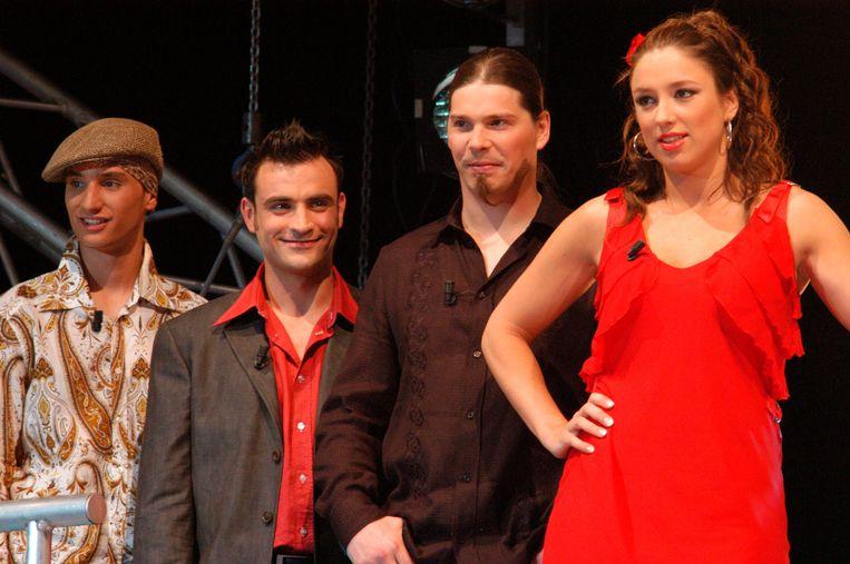 Het trio met Wim Soutaert, die vierde werd, in 2003.