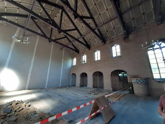 Interieur van de Fatimakerk aan het Servaasplein in Eindhoven. Hier komen 18 appartementen.