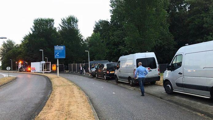 De dode vrouw uit Epe werd gevonden in een sloot langs de Stevenhofsdreef in Leiden.
