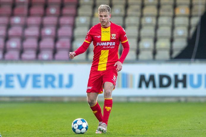 Luuk Brouwers, opgegroeid in Lieshout, opgeleid door FC Den Bosch en nu speler van Go Ahead Eagles is bezig aan een sterk seizoen.