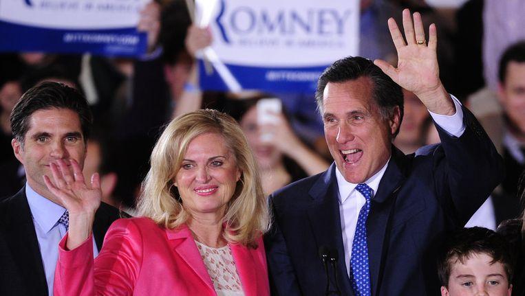 Mitt Romney.en zijn vrouw Ann. Beeld AFP