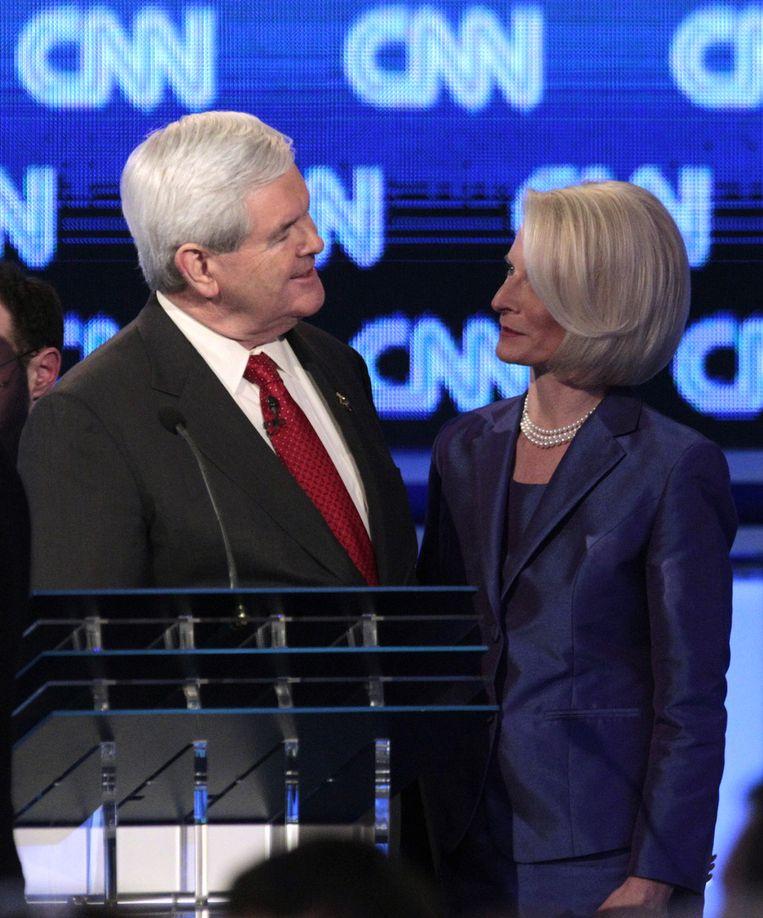 Gingrich met zijn derde echtgenote Callista. Beeld AP