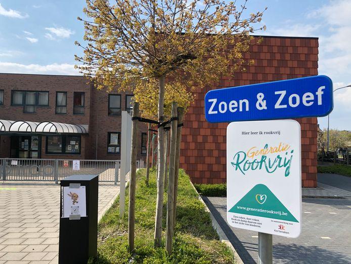 De Zoen & Zoef-zone aan de basisschool De Trip Trap in Kortenaken is nu ook een rookvrije zone.