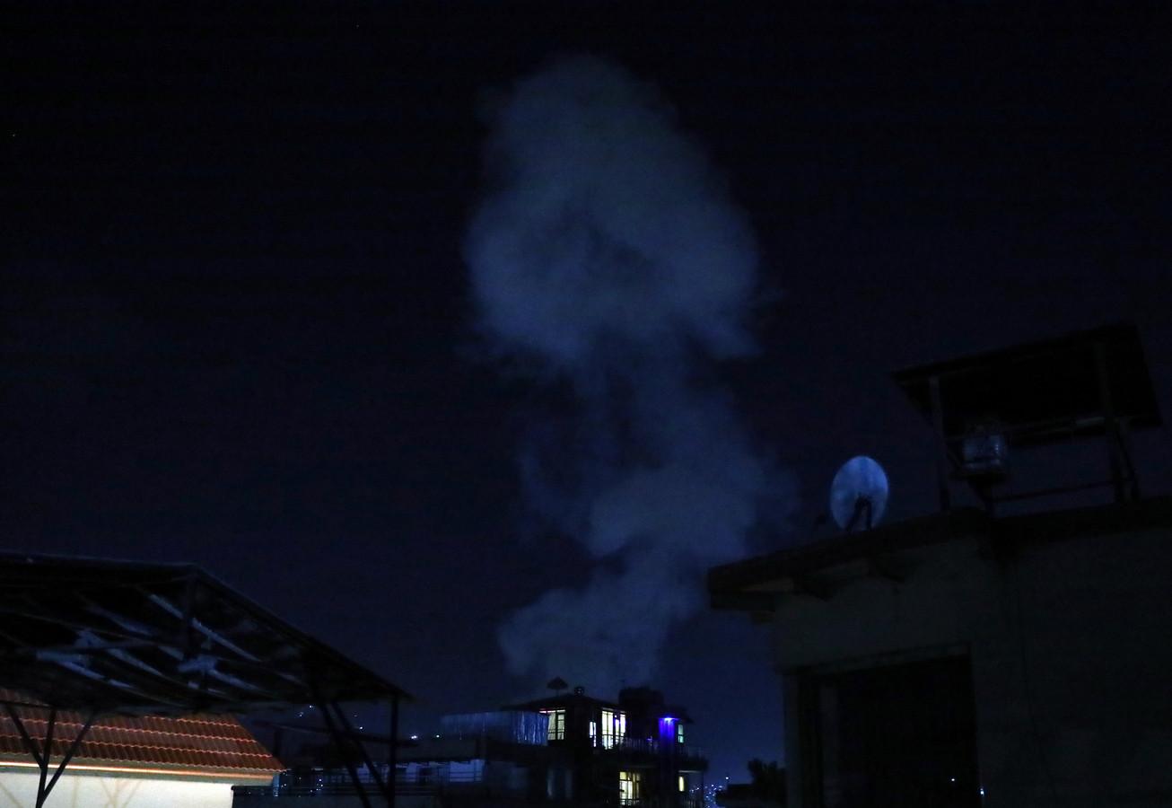 Rook na de ontploffing.