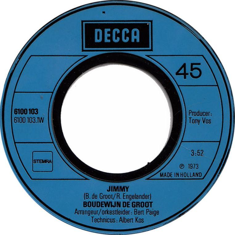 Jimmy, Boudewijn de Groot (1973) Beeld