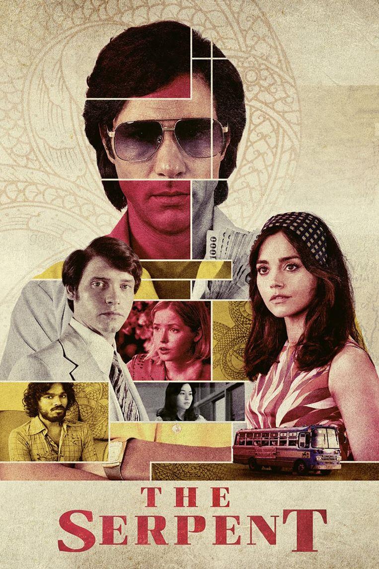 De affiche van 'The Serpent', de best bekeken serie van het moment op Netflix. Beeld Netflix