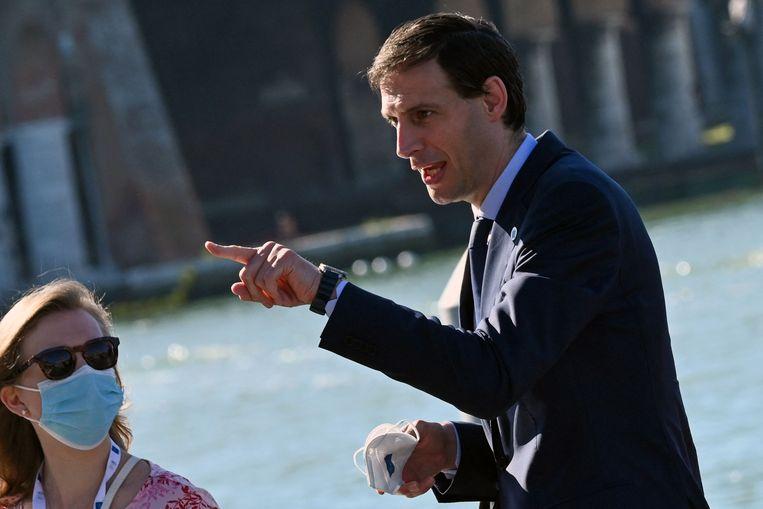 Wopke Hoekstra, demissionair minister van Financiën, op de G20 in Venetië in juni dit jaar. Beeld AFP