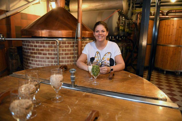 Zaakvoerster Erika Vanderwegen in de vernieuwde brouwerij Domus Brauhaus.