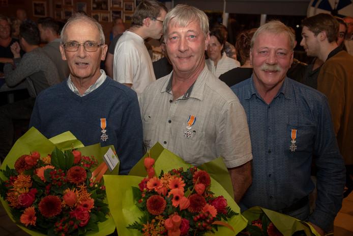 Adriaan, Arie en Kees Verwoerdt.