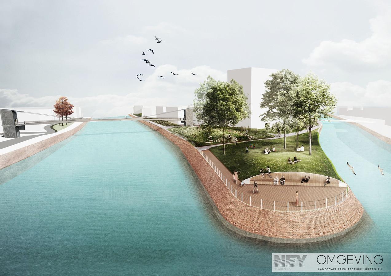 De Reepbrug zal de Schinkelstraat op Overleie met de tip van het Buda-eiland verbinden.