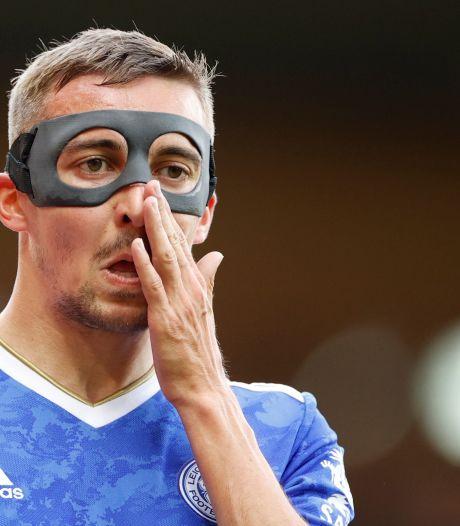 Castagne de retour plus de deux mois après sa grave blessure à l'Euro, Leicester s'impose