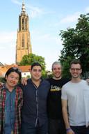 Yutaro Okuda, Alex Hirlian, Nick Henderson en Felix Lalanne van de Australische band Arcing Wires.