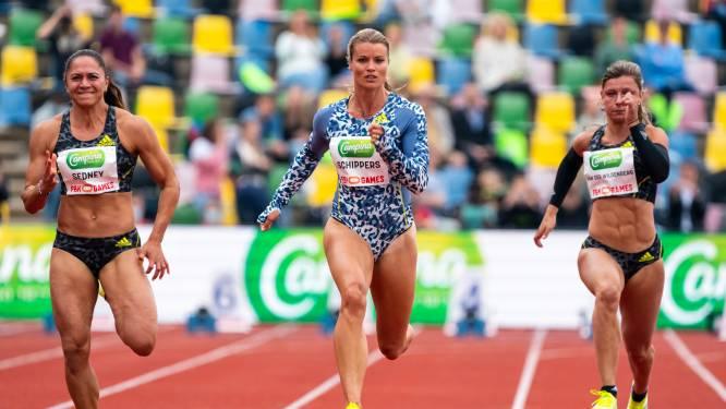 Schippers raakt ondanks beste seizoenstijd FBK-record 100 meter kwijt aan Asher-Smith