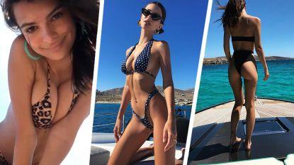 Emily Ratajkowski is op vakantie en daar horen weer heel wat zwoele foto's bij