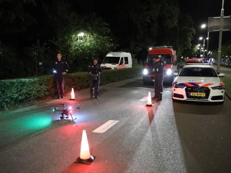 Drones speuren boven de Gordelweg naar sporen dodelijke aanrijding vrouw en hond