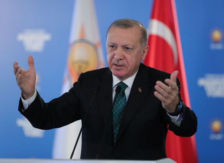 President van Turkije, Recep Tayyip Erdogan. Beeld Reuters