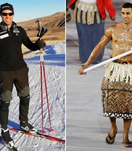 Halfnaakte vlaggendrager uit Tonga als langlaufer bijna in Pyeongchang