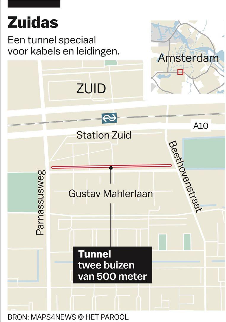Bedrading in de Zuidas tunnel Beeld Jet De Nies