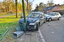 Bestuurder gewond bij ongeluk op N69 tussen Valkenswaard en Aalst.