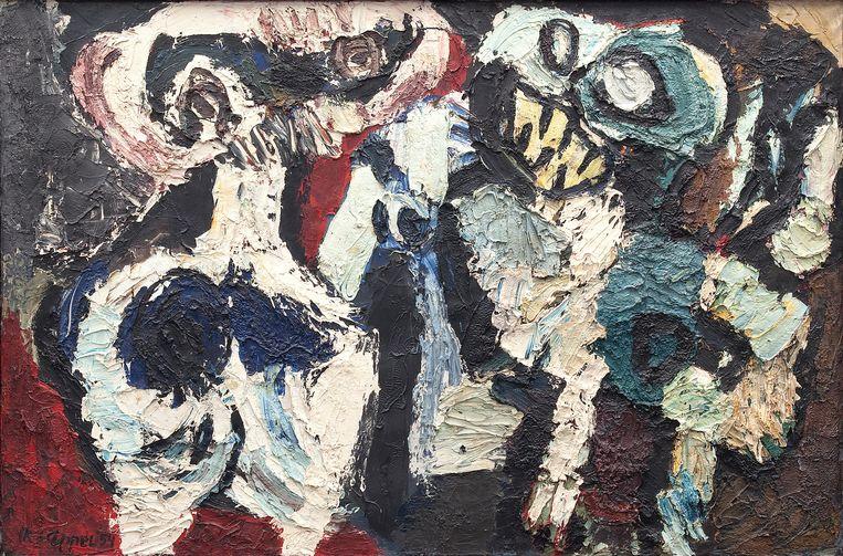 Karel Appel: Twee figuren, 1954 Beeld Collectie Cobra Museum