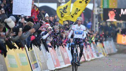 Van der Poel speelt ook in Zonhoven met de tegenstand en scoort vijf op vijf in de Superprestige