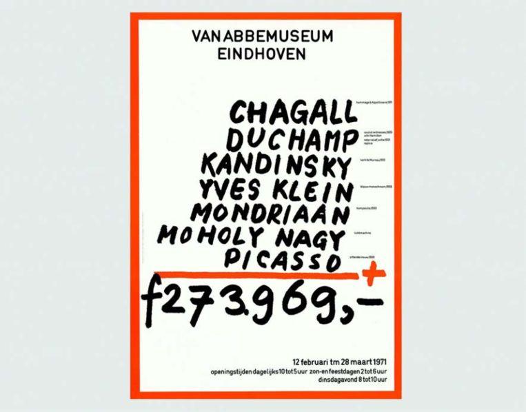 Poster ontworpen voor het Van Abbemuseum Beeld Jan van Toorn