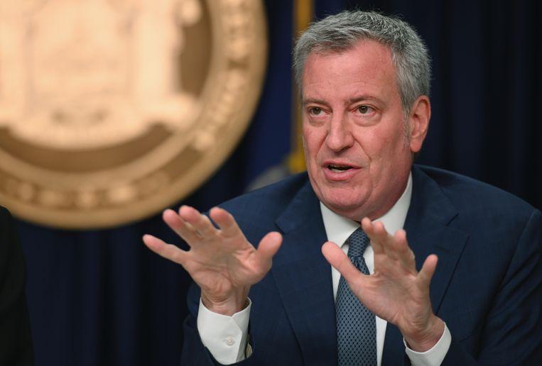 Bill de Blasio, de burgemeester van New York, heeft besloten dat alle horeca in de stad dicht moet. Beeld AFP