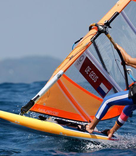 Windsurfster De Geus kansloos voor medailles op Spelen in Toki