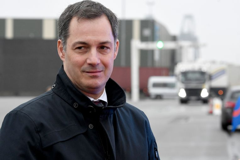 Minister Alexander De Croo in Beveren op 08/01/2020.  Beeld Photo News