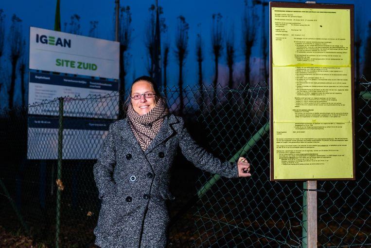 Schepen voor Milieu, Goedele Van der Spiegel (Groen), gaf een negatief advies  voor de aanvraag van een betonopslagplaats aan de provincie.