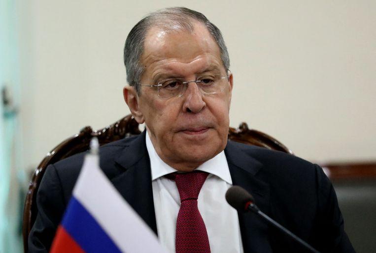 De Russische minister van Buitenlandse Zaken Sergej Lavrov.  Beeld AFP