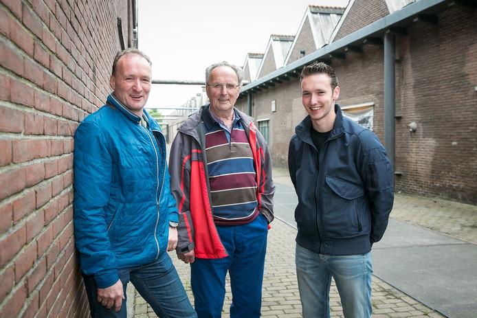 Erwin, Gerhard en Steven Rolefes: drie generaties samen op het Indiëterrein.