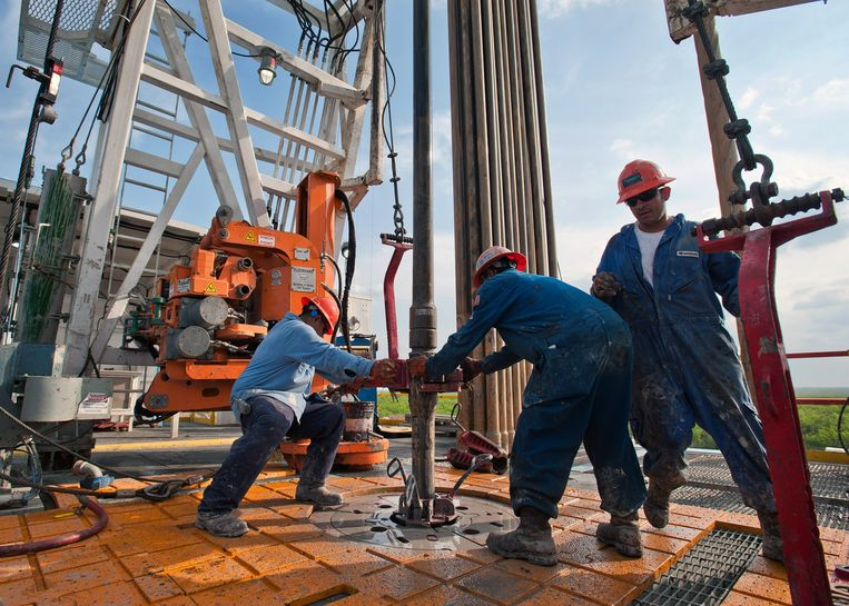 Oliewinning in Texas.  Beeld Getty Images