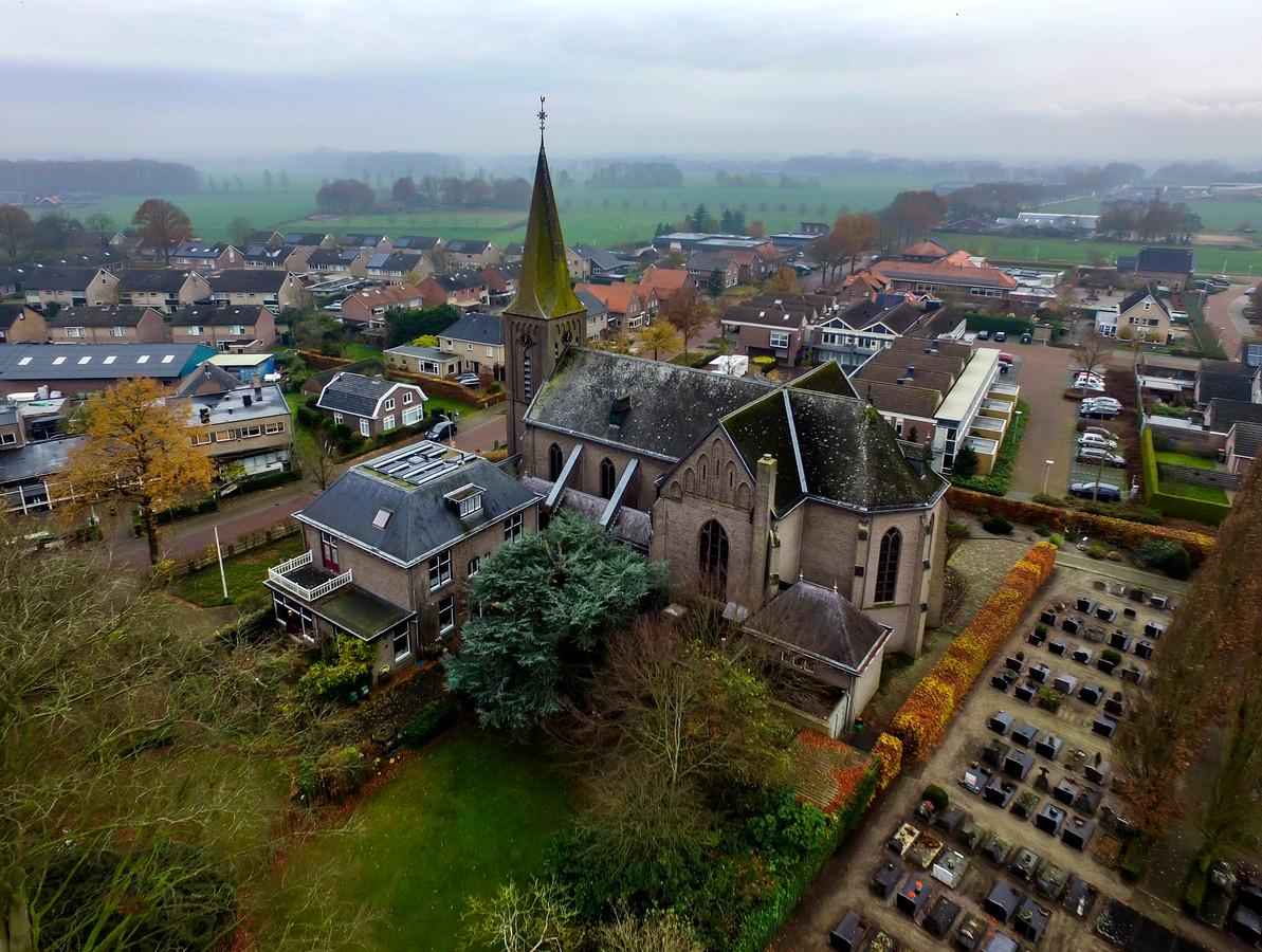 De kerk in Broekland.