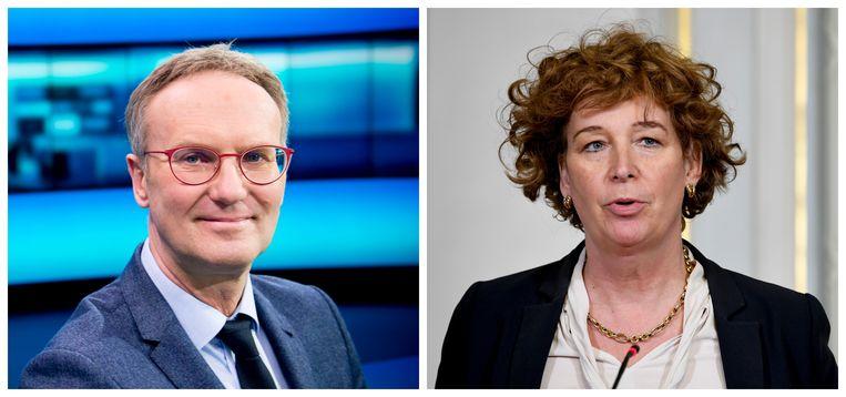 Lieven Verstraete en Petra De Sutter Beeld VRT/PN
