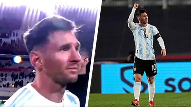 Messi snoept met hattrick tegen Bolivia record van Pelé af en laat tranen de vrije loop in viering met fans