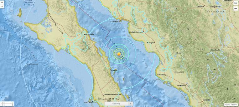 aardbeving Mexico Beeld Twitter