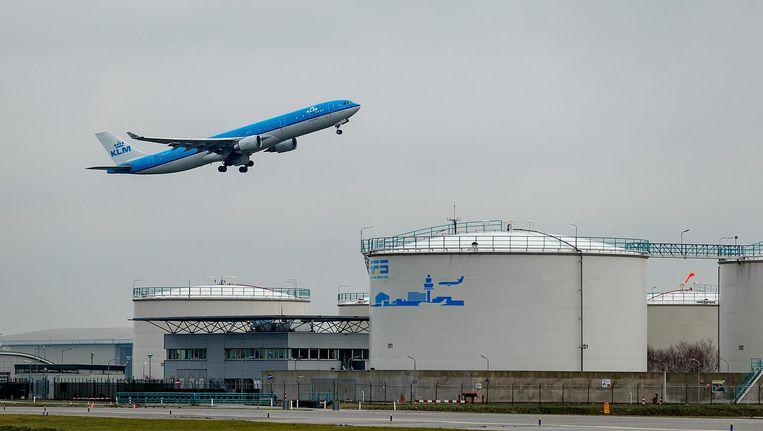 KLM vliegt normaliter niet door het getroffen luchtruim, maar houdt de situatie in de gaten Beeld anp