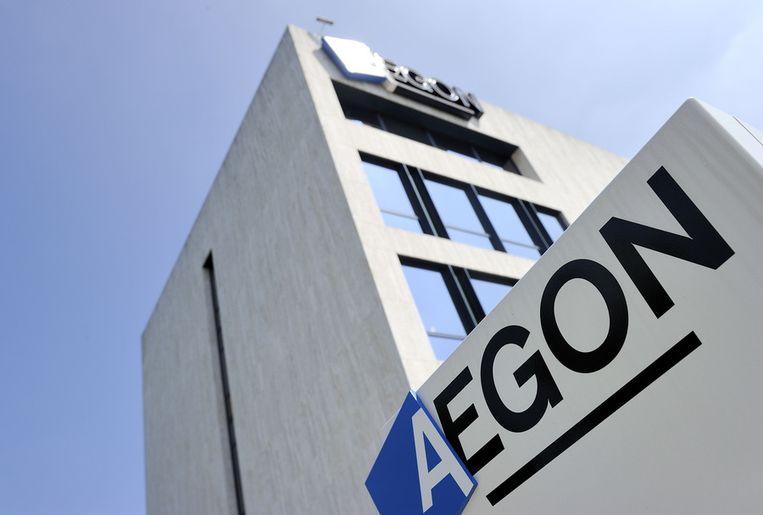 Exterieur van het hoofdkantoor van Aegon in Den Haag. Beeld anp