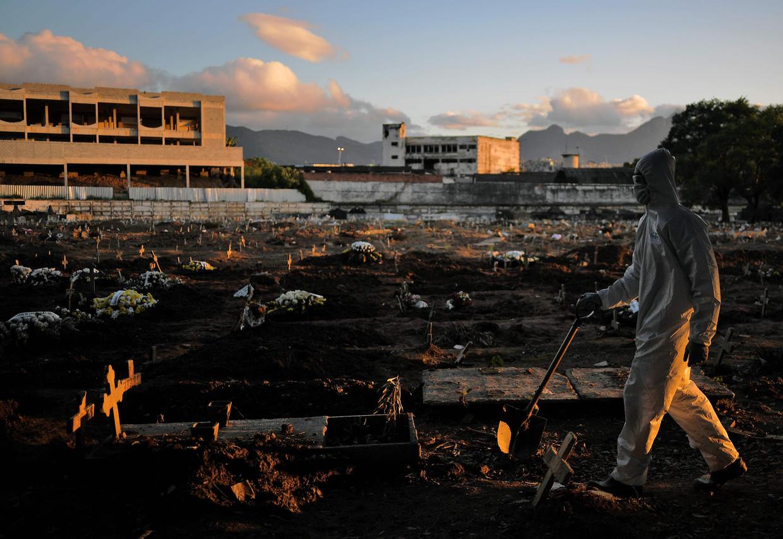 Na de VS zijn er in Brazilië de meeste coronadoden gevallen: meer dan 140.000. Beeld AFP