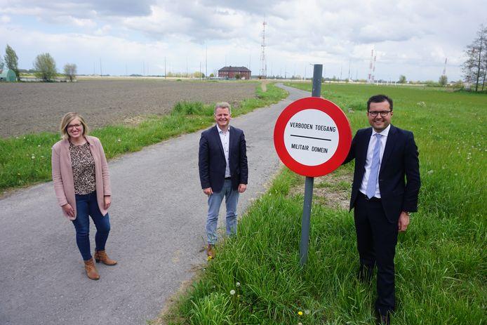 Het militair domein Schorreweide - of Kamp 't Pompje - in Oudenburg.