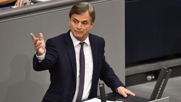 AfD-parlementariër Bernd Baumann. Beeld anp