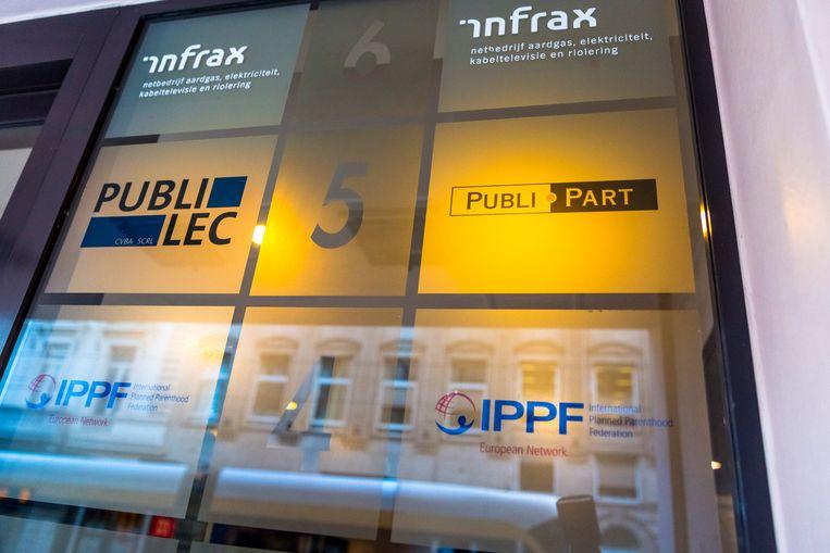 Het hoofdkwartier van Publilec en Publipart in de Koningstraat in Brussel. Beeld BELGA