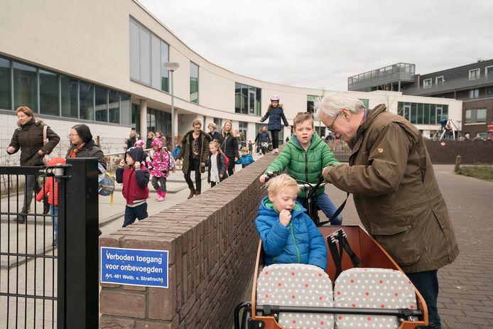 Drukte bij kindcentrum De Groote Wielen.