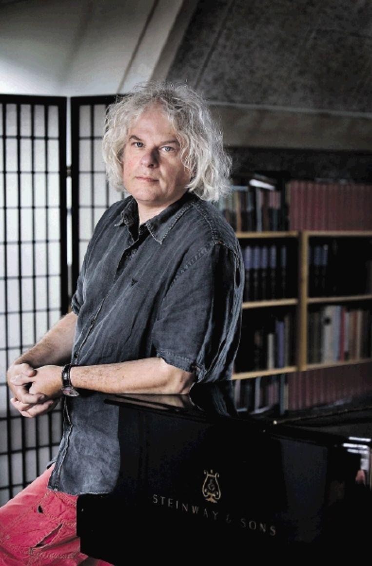 Ronald Brautigam: ¿Een Steinway is niet de ultieme piano.¿ (FOTO WERRY CRONE, TROUW) Beeld