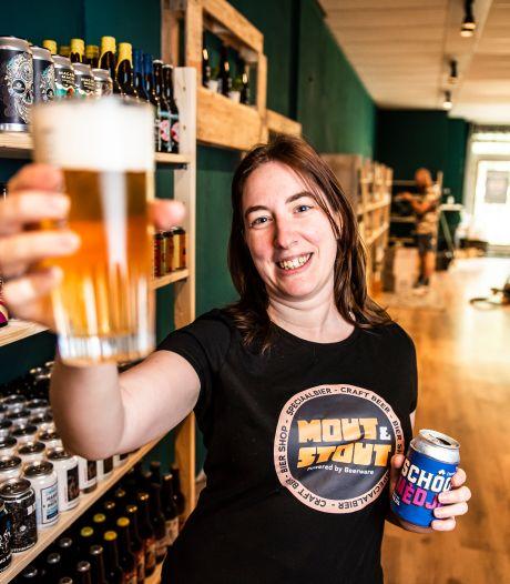 Heeeeeeeee, biertje? Diny (32) ontmoette haar grote liefde in een bierencafé, haar man is brouwer, en nu begint ze een bierwinkel