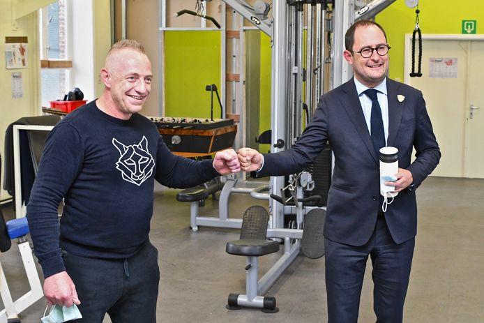 Minister van Justitie Vincent Van Quickenborne (Open Vld) bezocht woensdag het PLC in Ruiselede. Hij ging er ook in dialoog met een paar gedetineerden.