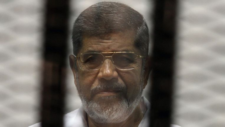 De afgezette Egyptische president Morsi. Beeld BELGA