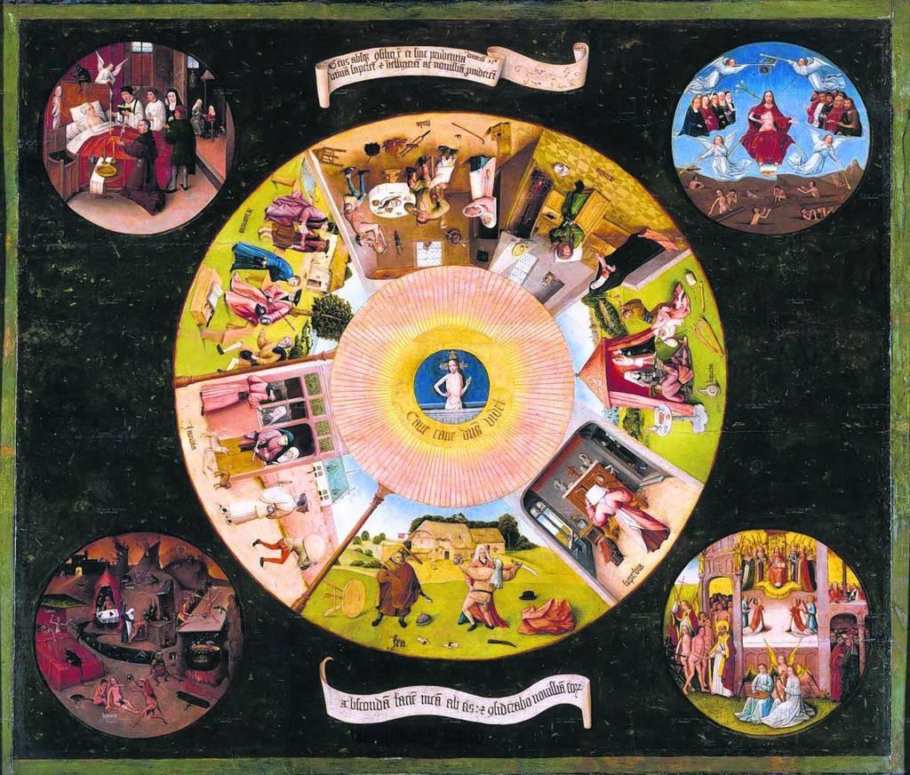 Het tafelblad van de zeven hoofdzonden van Jeroen Bosch, een van de werken in het Prado.